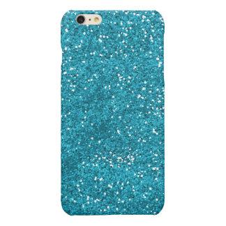Het modieuze Turkooise Blauw schittert iPhone 6 Plus Hoesje Glanzend