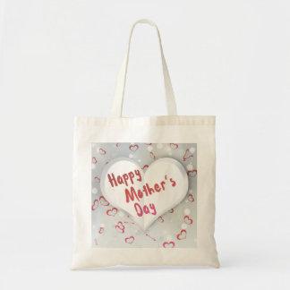 Het moederdag Gevouwen Hart van het Document - het Draagtas
