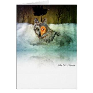 Het moedige Wenskaart van de Wolf