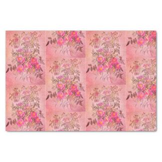 Het moeras nam Roze BloemenPapieren zakdoekje toe Tissuepapier