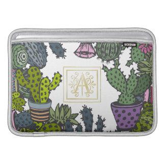 Het Monogram A van de cactus Sleeve For MacBook Air