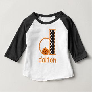 Het Monogram Aanvankelijke D van de Pompoen van de Baby T Shirts