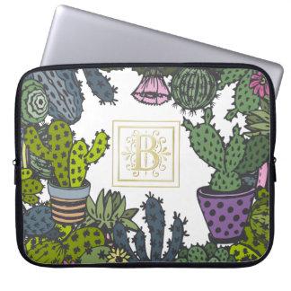 Het Monogram B van de cactus Laptop Sleeve