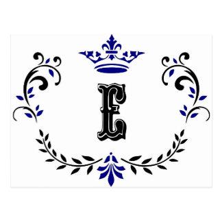 Het Monogram 'E van de Kroon van de kroon Briefkaart