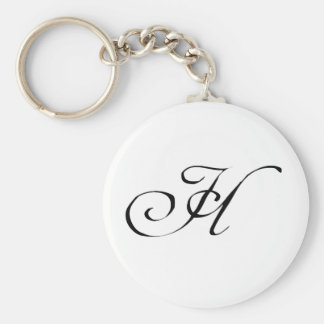 Het Monogram Keychain van de brief H Sleutelhanger