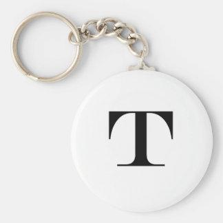 Het Monogram Keychain van de brief T Sleutelhanger