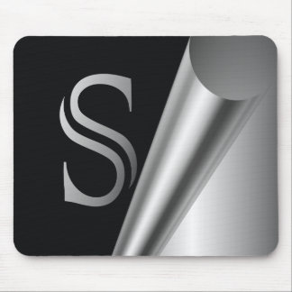 """Het Monogram """"S """" van de Schil van het staal Muismat"""