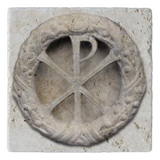 Het monogram van Christus - chi-Rho Trivet
