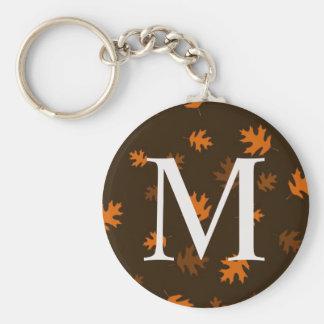 Het Monogram van de Bladeren van de Herfst van de Sleutelhanger