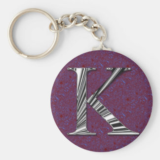 Het Monogram van de brief K Sleutelhanger