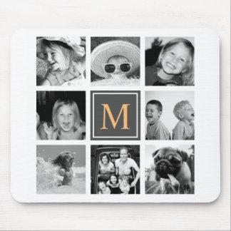 Het Monogram van de Collage van de Foto van Muismat