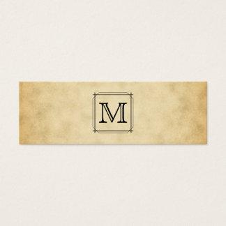 Het Monogram van de douane op het Patroon van de Mini Visitekaartjes