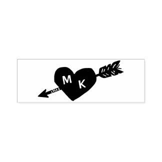 Het Monogram van de Douane van het hart en van de Zelfinktende Stempel
