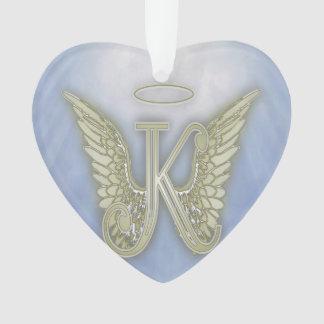 Het Monogram van de Engel van de brief K Ornament