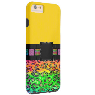 Het Monogram van de Jachtluipaard van de regenboog Tough iPhone 6 Plus Hoesje
