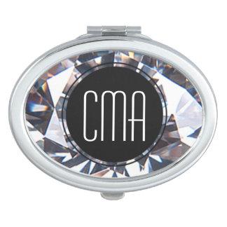 Het Monogram van de Klasse van de diamant Makeup Spiegel