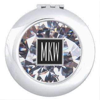 Het Monogram van de Klasse van de diamant Makeup Spiegeltjes