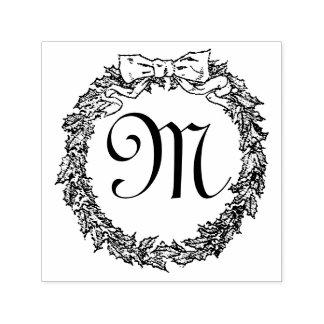 Het Monogram van de Kroon van Kerstmis Zelfinktende Stempel