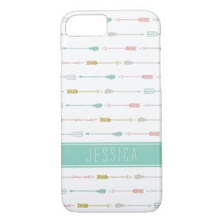 Het Monogram van de Pijlen van de pastelkleur iPhone 7 Hoesje