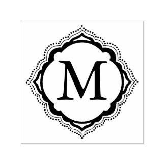 Het Monogram van de tegel Zelfinktende Stempel