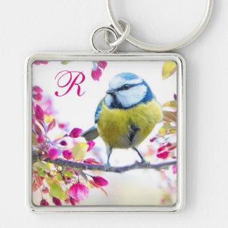 Het Monogram van de Vogel van de lente Sleutelhanger