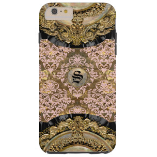 Het Monogram van het Damast van Girly van Hillaray Tough iPhone 6 Plus Hoesje