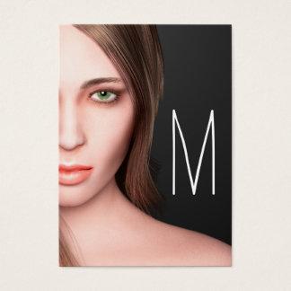 Het Monogram van het Meisje van de mode Visitekaartjes
