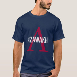 Het Monogram van het Ras van Azawakh T Shirt