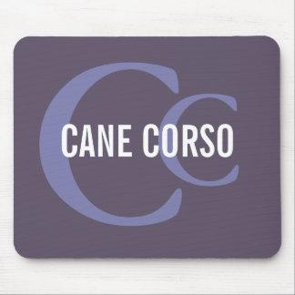 Het Monogram van het Ras van Corso van het riet Muismatten