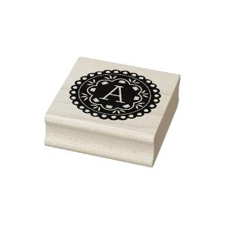 Het Monogram van Picado van Papel Rubberenstempel