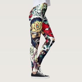 het monster kruipt de beenkappen van vrouwen leggings