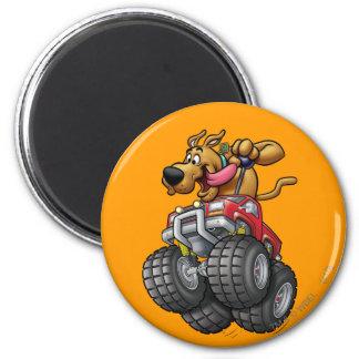 Het Monster Truck1 van Doo van Scooby Ronde Magneet 5,7 Cm