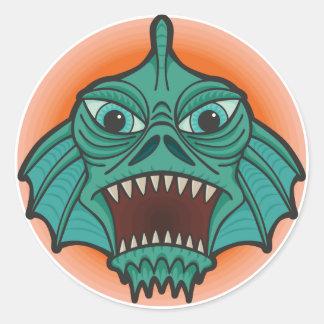 Het Monster van het moeras Ronde Sticker