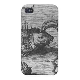 Het Monster van het zee/Schepsel/de Dekking/het Ho iPhone 4/4S Hoesjes