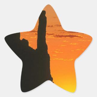 Het Monument Navajo van de Avond van de Ster Sticker