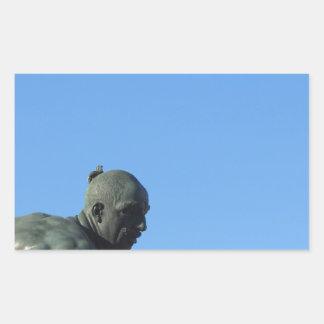 Het monument Quattro Mori (van Vier legt vast) Rechthoekige Sticker