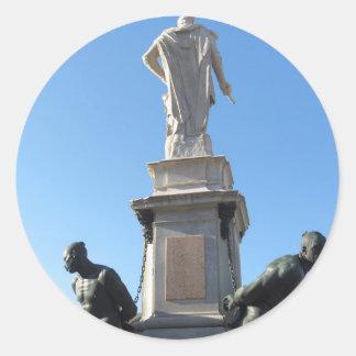 Het monument Quattro Mori (van Vier legt vast) Ronde Sticker