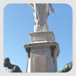 Het monument Quattro Mori (van Vier legt vast) Vierkante Sticker