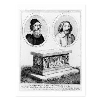 Het monument van Tradescants in de Werf van de Briefkaart