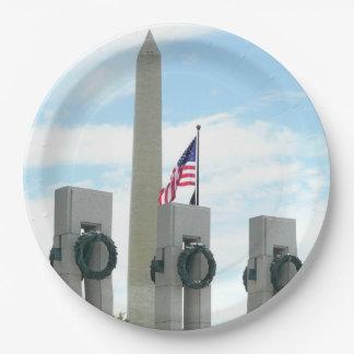 Het Monument van Washington en het Gedenkteken van Papieren Bordje