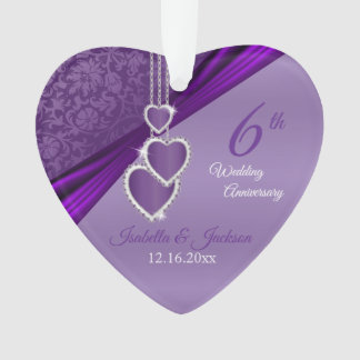 Het mooie 6de Ontwerp van het Violetkleurige Ornament