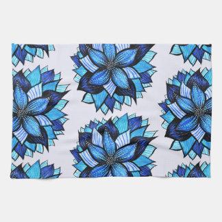 Het mooie Abstracte Blauwe Patroon van de Tekening Theedoek