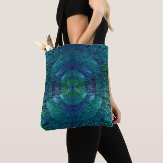 Het mooie Blauwe en Groene Abstracte Bolsa van de Draagtas