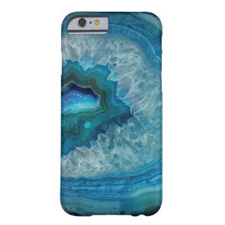 Het mooie Blauwe Geval van de Halfedelsteen van de Barely There iPhone 6 Hoesje