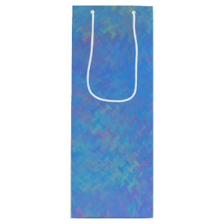 Het mooie Blauwe MarmerDocument ziet eruit Wijn Cadeautas