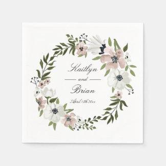 Het mooie BloemenServet van het Huwelijk Papieren Servet