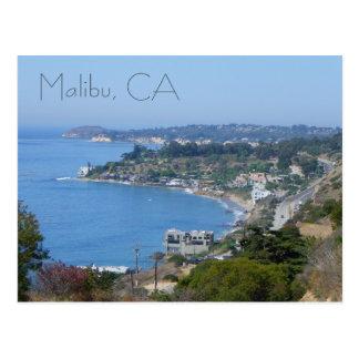 Het mooie Briefkaart van de Kust Malibu Wenskaarten