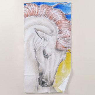 Het mooie $ce-andalusisch Paard van de Regenboog Strandlaken
