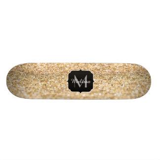 Het mooie champagnegoud schittert persoonlijk skateboard