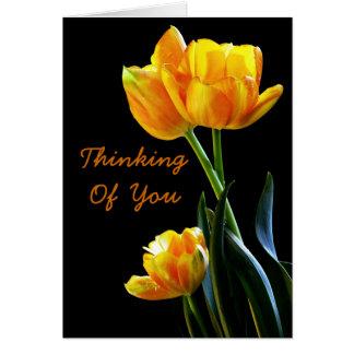 Het mooie Denken van Tulpen aan u Wenskaart